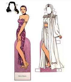 Glamorous Stars of the Forties Paper Dolls by Tom Tierney - Dover Publications, Plate 15 (of Barbie Paper Dolls, Vintage Paper Dolls, Dress Up Dolls, Dress Me Up, Dolls Film, Paper People, Fashion Sketches, Playing Dress Up, Dame