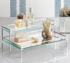 Tiered Mirror Tray #potterybarn