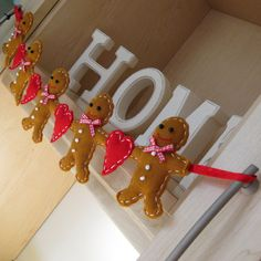 Felt Gingerbread Man Garland