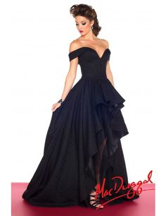 Mac Duggal 48134R, black high low evening gown Picture