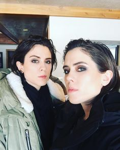 """""""Headed to see @mrclea at The Intervention premiere !!!!! """" Tegan and Sara"""