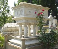 Elizabeth Barrett-Bornwing's tomb in the so-called English Cemetery in Florence