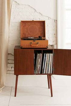 Vinyl record storage, vinyl record cabinet, vinyl records, home furniture, reco Vinyl Record Cabinet, Vinyl Record Storage, Vinyl Records, Record Player Cabinet, Design Café, Deco Design, House Design, Design Miami, Classic Cabinets