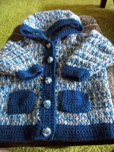 inekedcblog: jongensjasje maat= rond 1 jaar Baby Boy Cardigan, Baby Vest, Baby Knitting, Crochet Baby, Crochet Diagram, Summer Baby, Yarn Crafts, Summer Collection, Ibiza