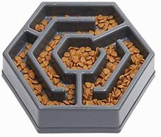 IAMUQ Slow Feeder Bowl - Maze Design - Pet Interactive Fun Health Slow Feeder Bloat Stop Dog Cat Food Water Bowl - Hold of Food ** Continue to the product at the image link. (This is an affiliate link) Dog Food Bowls, Pet Bowls, Stainless Steel Dog Bowls, Maze Design, Slow Feeder, Raining Cats And Dogs, Dog Store, Dog Feeding, Slow Food
