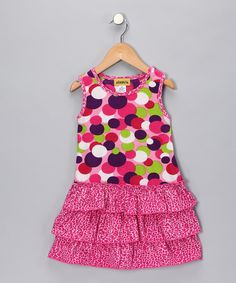 Take a look at this Pink Polka Dot Ruffle Dress - Toddler & Girls on zulily today!