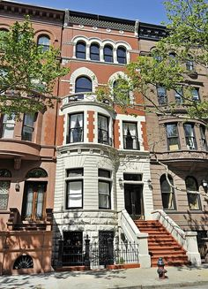 West 88th Street New York Upper west side brownstone bay windows