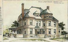 bridgeport connecticut   Bridgeport Connecticut 1888 Painting - P. T. Barnum House Bridgeport ...