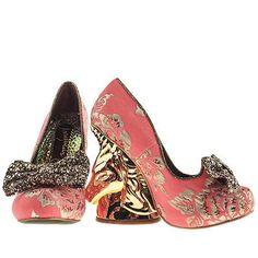 94e981ea5e72 womens irregular choice pink trixy embroidery high heels Trainer Boots