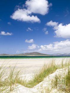 Seilebost Beach, Isle of Harris, Hebrides, Scotland, UK Photographie par Nadia Isakova sur AllPosters. Scotland Uk, Scotland Travel, Scotland Trip, Highlands Scotland, Uk Beaches, Isle Of Harris, Outer Hebrides, Scottish Islands, Inverness
