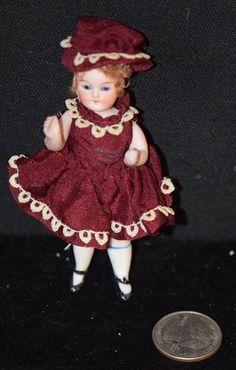 Antique Doll Bisque Miniature All Bisque Dollhouse Gorgeous