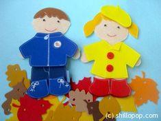 куклы из фетра игрушки с липучками одежда