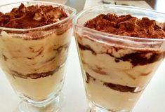 Tiramisu v pohári Sweet Recipes, Tiramisu, Pudding, Ethnic Recipes, Food, Basket, Mascarpone, Custard Pudding, Essen