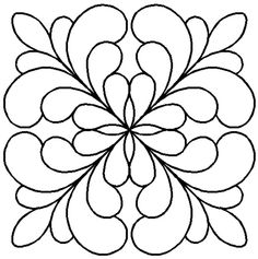 Quilt Stencil Adante Feather Block By Central Press Publication - 7in