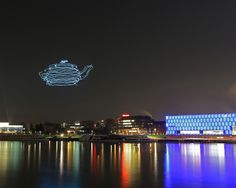 smart atom spaxels by ars electronica drwa 3 d images in the night sky