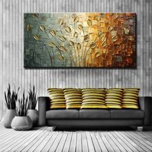 Unframed Handmade Texture Knife Flower Tree Abstract Modern Wall Art Oil Painting Cnavas Home Wall Decor For Room Decoration (China (Mainland))