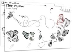 Tatouages papillons stylisé noir, Sioou