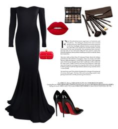 """""""Untitled #120"""" by m88mi ❤ liked on Polyvore featuring Christian Louboutin, Lime Crime, Borghese and Alexander McQueen"""