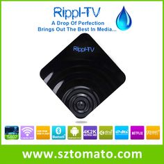 Most popular android tv box in 2015 powerful ARM Cortex A9 Quad Core 2.0 processor with Mali-450 Octo-core provides excellent performance for extremely smooth video playback with up to 4K resolution Rippl-TV.
