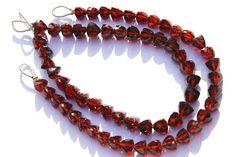 Super Quality AA Garnet Trillion Faceted Beads 6 to 6.50 mm #garnet #garnetbeads #garnetbead #garnettrillion #trillionbeads #beadswholesaler #semipreciousstone #gemstonebeads #gemrare #beadwork #beadstore #bead
