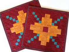Zia pillow shams made for a Whimzie Quiltz customer as a thank you gift with custom quilt purchase #whimziequiltz