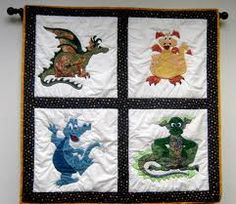 Quilted dragon hanging