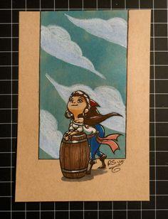Day 10: Pirate! #Inktober #Copic #brushpens