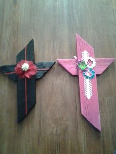 Black and pink cross