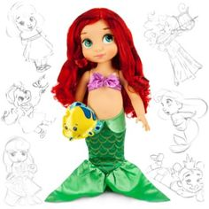 Esta muñeca de la serie Animators nos muestra a la pequeña Ariel