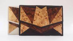 My work of art...  #wood #geometric #leather #clutch #envelope #bag #handmade #jlang #costarica #fashion #art