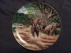 Windows on the World Collector Plate - Great Tusks of the Serengeti on Etsy