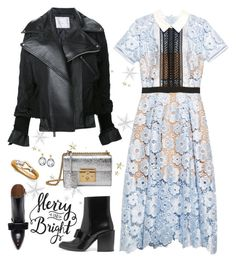 """""""Merry & Bright"""" by musicfriend1 ❤ liked on Polyvore featuring self-portrait, Sacai, Marni, Gucci, Freida Rothman and Roberto Coin"""
