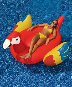 28f8c3300687 Parrot Ride-OnPool Float  zulilyfinds Swimming Pools