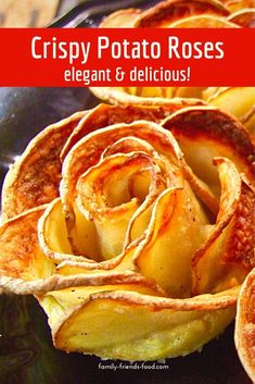 The most beautiful thing you can make with a potato! These gorgeous potato roses add a simple touch of glamour to any plate. Dinner Side Dishes, Veg Dishes, Dinner Sides, Potato Dishes, Potato Recipes, Vegetable Recipes, Food Dishes, Vegetarian Recipes, Kosher Recipes