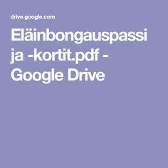 Eläinbongauspassi ja -kortit.pdf - Google Drive Google Drive, Pdf