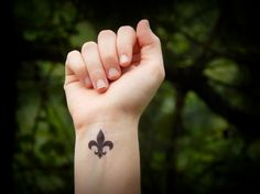 fleur de lis  temporary tattoo by SymbolicImports on Etsy, $3.00