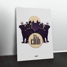 Quadro Black Cat Club CA7173