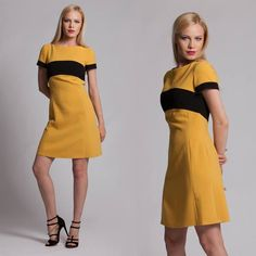 Perfect dress for weekend! Yellow dress is cool for this summer!