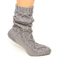 scrunch cable socks - pdf pattern