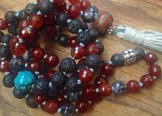 Carnelian Mala Beads/ Black Lava/ Larvikite/ by NakedPlanetJewelry #Malabeads, #Etsy, #Nakedplanetjewelry, #Karenlernerjewelry, #Carnelianmalabeads, #Turquoisemalabeads, #Blacklavamalabeads, #Unisexmalabeads, #yogainspiredjewelry, #Yogajewelry, #Prayerbeads, #108beads, #Buddhistbeads, #Prayerbeads, #Balisilver, #Unisexbeads, #Autumnfinds, #Fallcoloredjewelry, #masculinmalabeads