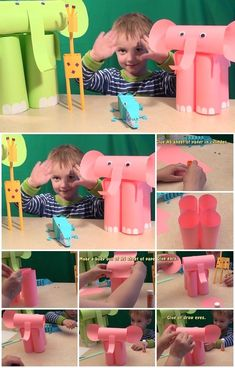 Cute,easy to make elephants from toilet paper rolls just for kids - Tutorial Toilet Paper Roll Crafts For Kids and Adult Animal Crafts For Kids, Fun Crafts For Kids, Toddler Crafts, Preschool Crafts, Projects For Kids, Diy For Kids, Activities For Kids, Elephant Crafts, Elephant Party