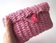 CROCHET Pouch Bag PATTERN Purse Clutch Bag by LiliaCraftParty  #knitbag #crochet
