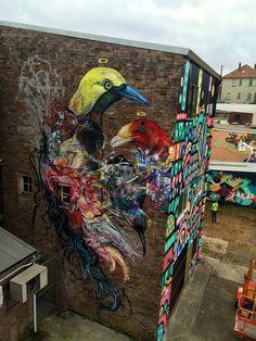 L7m in Katoomba, NSW, Australia 2015 SAMA, Street Art Murals Australia