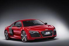 Foto Perfil Audi R8 e-tron Cupe 2013 Red Rojo car coche