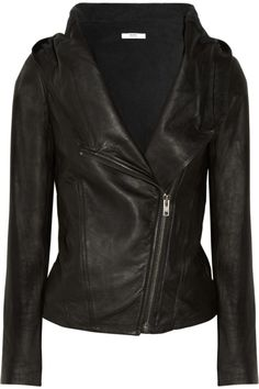 Helmut Lang Helmut Hooded Washedleather Jacket by proteamundi