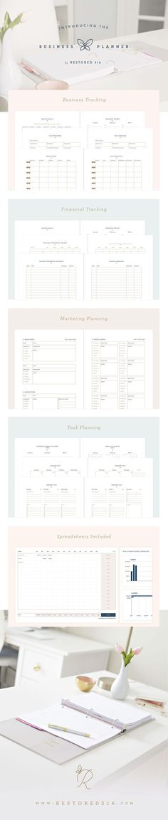 First of all, just looking at the @restored316website will make your eyeballs pleased. Its clean and elegant feel is exactly the aesthetic you'll also find throughout the 2018 Restored316 Business Printable Planner(which even includes 14 digital spreadsheets). This comprehensive planner is perfect for the business babe with daily task lists, business sheets (for tracking progress with website analytics, sales, and reach), and finance sheets. [affiliate link]