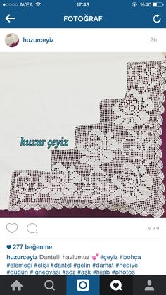 This Pin was discovered by HUZ Filet Crochet, Crochet Cord, Crochet Borders, Crochet Stitches, Crochet Tablecloth, Crochet Doilies, Crochet Lace, Crochet Shawl, Crochet Toddler