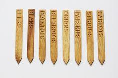 Oak Kitchen Garden Labels | The Foodie Bugle Shop