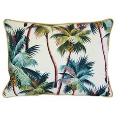 Custom Tropical Coconut Palm Tree Pillow ($175) ❤ liked on Polyvore featuring home, home decor, throw pillows, decor, pillows, tropical accent pillows, tropical palm trees, tropical throw pillows, multi colored throw pillows and golden palm