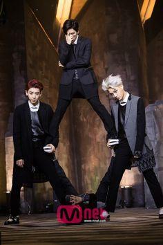 Chanyeol, Kai and Baekhyun for M!Countdown